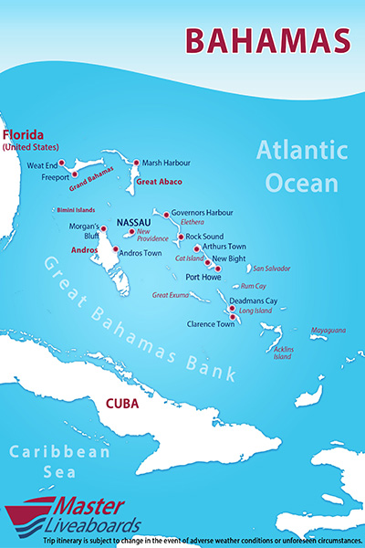 Bahamas Master Liveaboard Reviews Specials Bluewater Dive Travel - Where are the bahamas