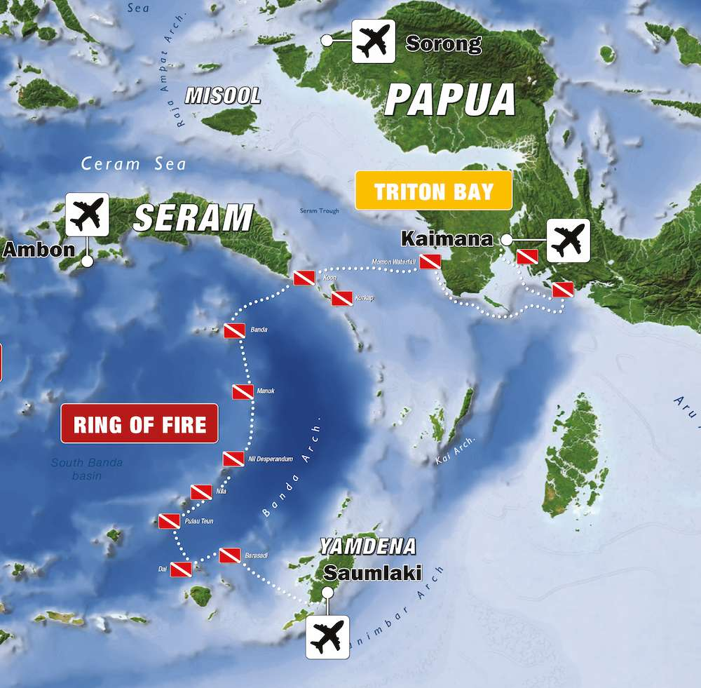 banda sea triton bay it map
