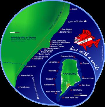 Dauin Dive Map