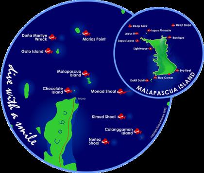Malapascua Diva Map