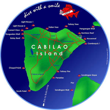 Sea Explorers Cabilao Dive Map