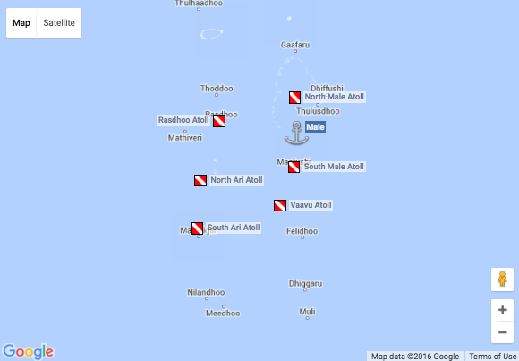 Emperor Maldives: Best of Maldives Route Map