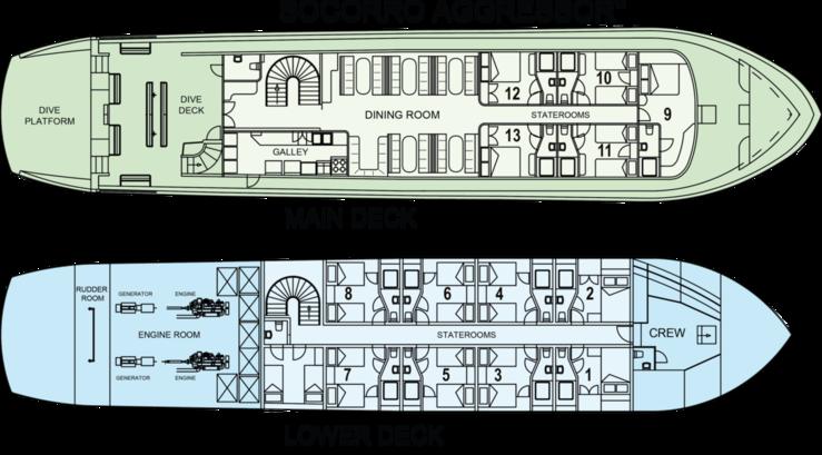 Socorro Aggressor's deck plan
