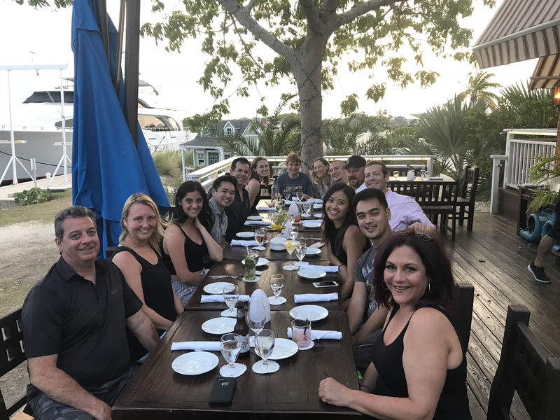 Dinner at Morgan's Seafood during Grand Cayman dive trip 2019