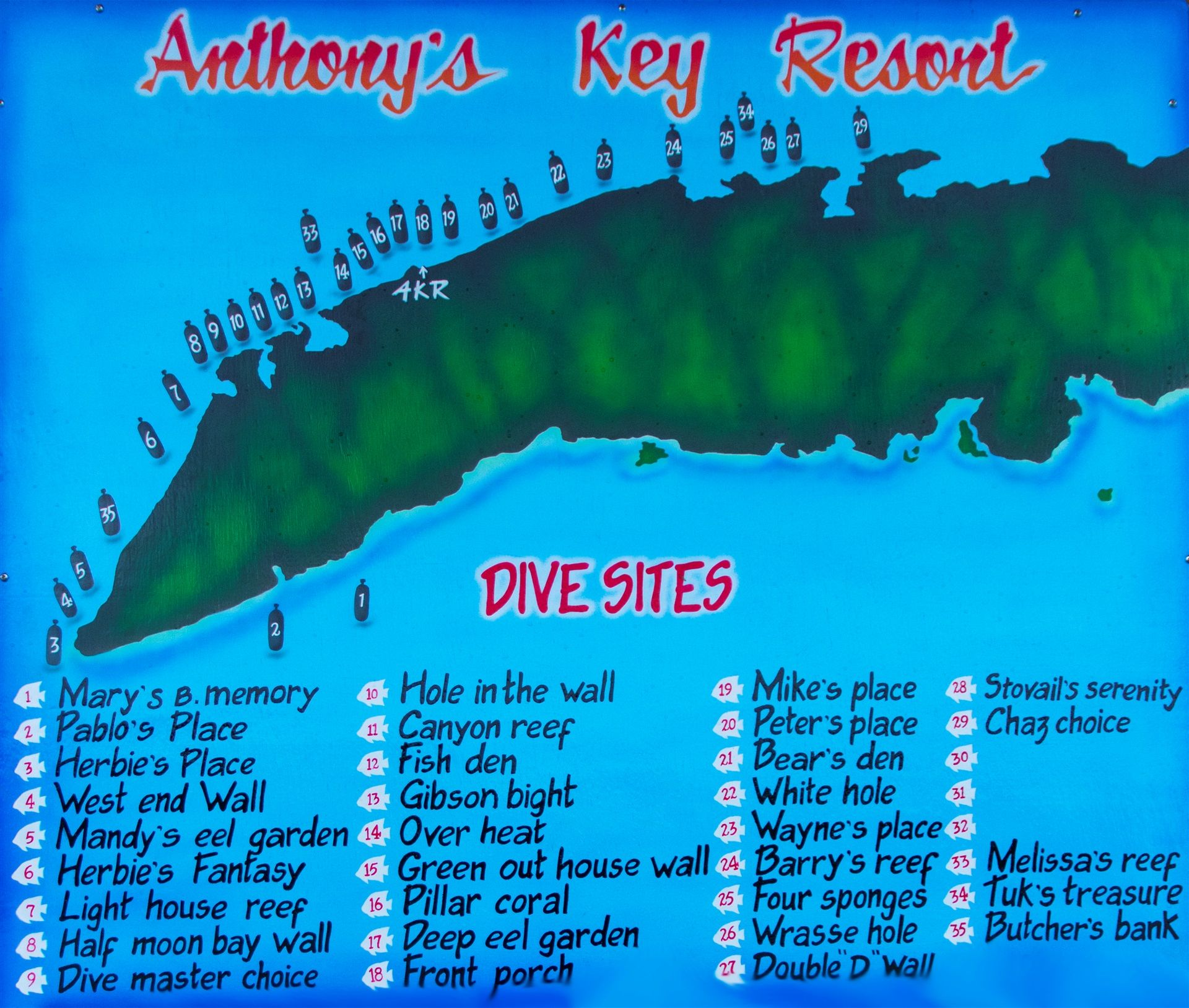 Anthony 39 s key resort roatan reviews specials bluewater - Padi dive sites ...
