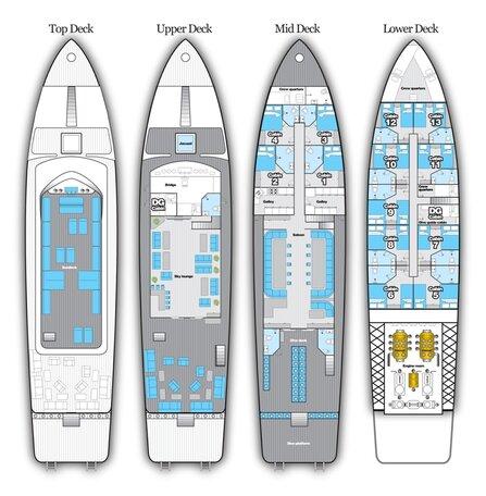 Blue Horizon's deck plan