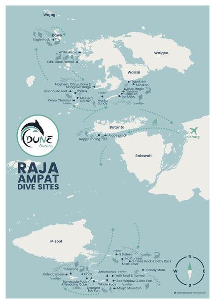 Dune Aurora Raja Ampat Itinerary Map