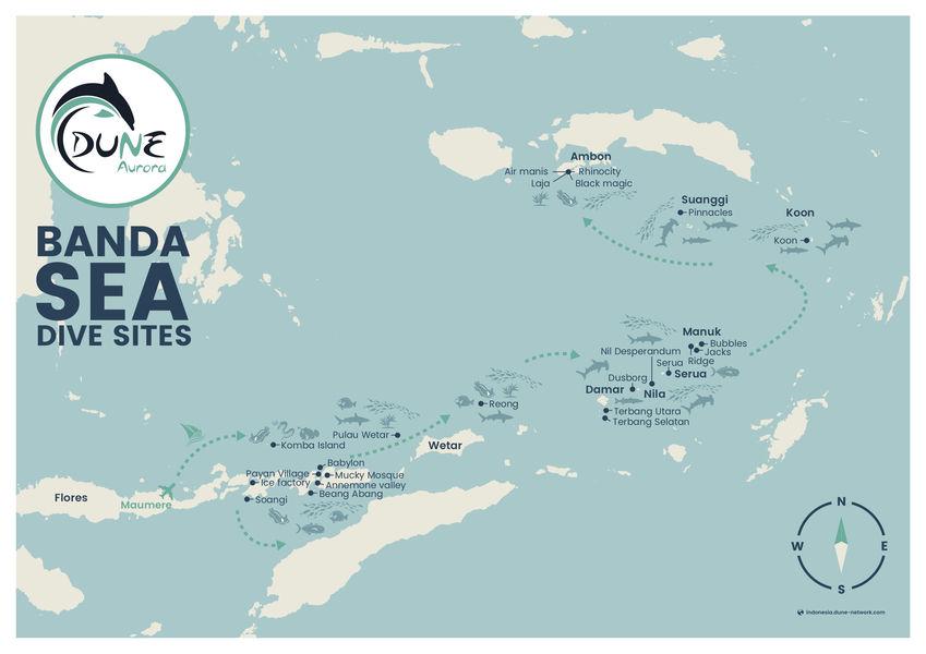 Dune Aurora Banda Sea Itinerary Map
