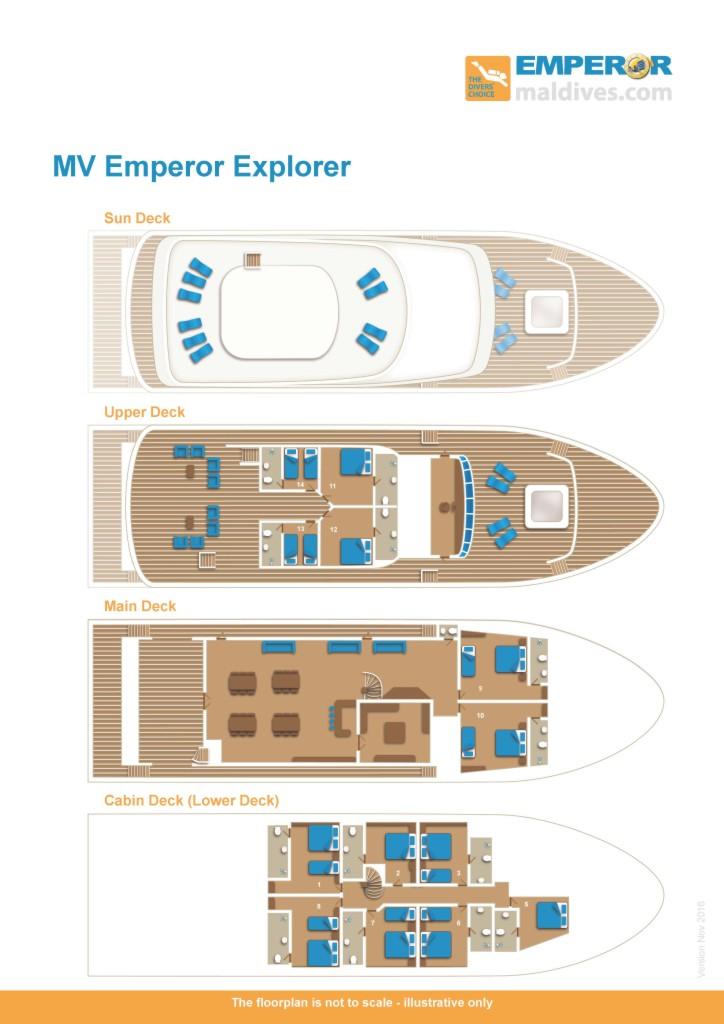 Emperor Explorer Liveaboard Deck Plan
