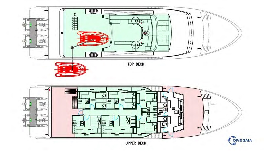 Gaia Love Liveaboard Deck Plan
