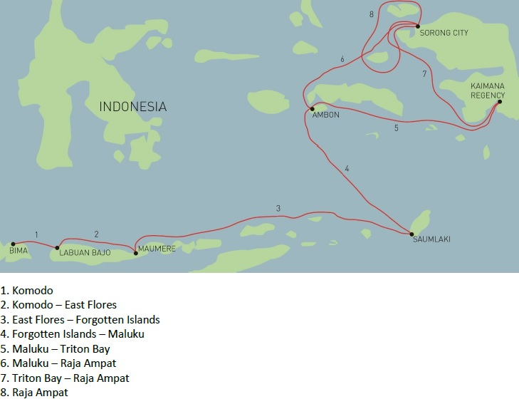 ILike Liveaboard Indonesia route