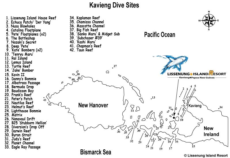 Lissenung Dive Sites