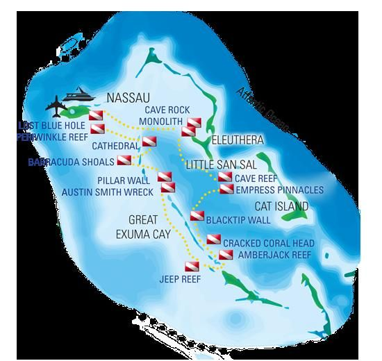 Exuma Leuthera Map