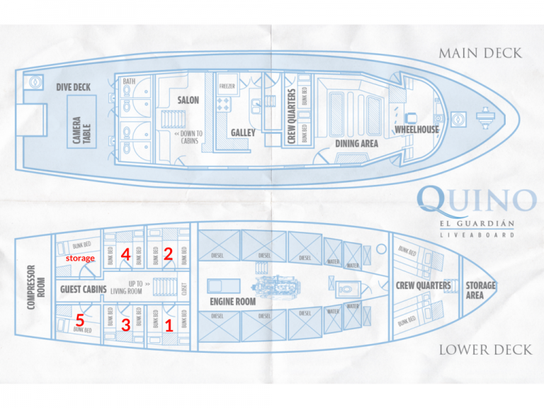 Quino El Guardian Deck Plan