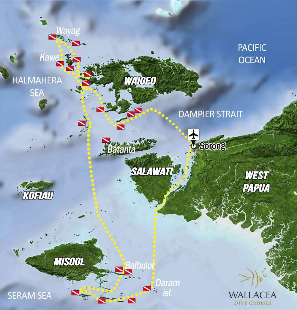 raja ampat it map