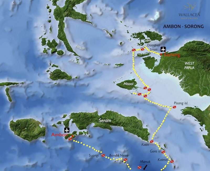 raja ampat banda sea it map