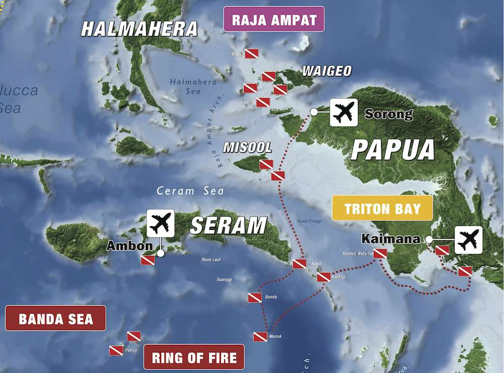 raja ampat triton bay it map