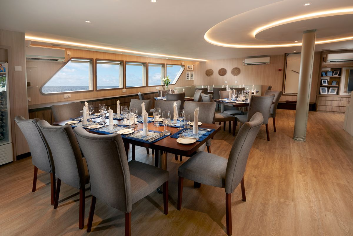 Gaia Love Liveaboard's Dining Area