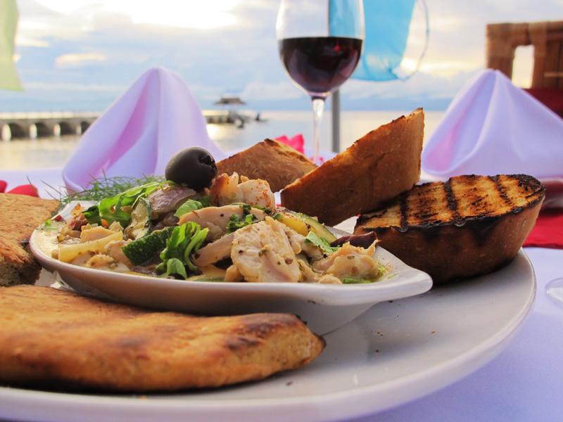 Dining at Kasai Village Dive Resort