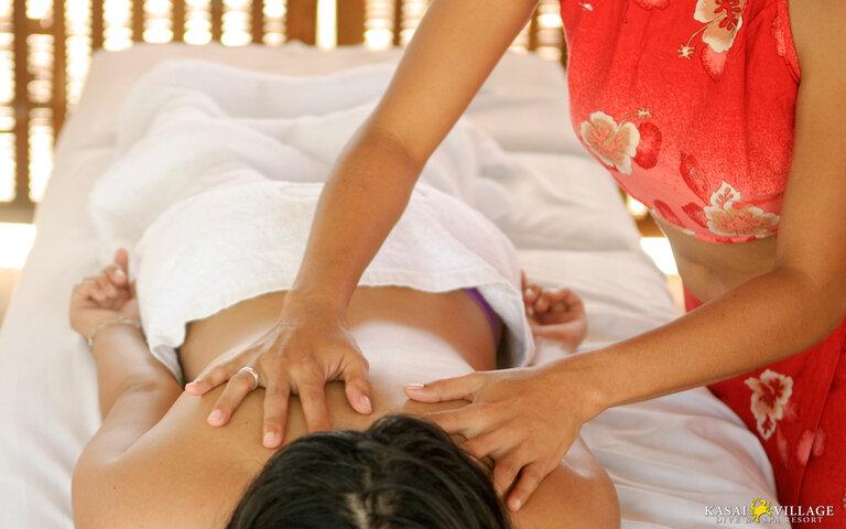 Kasai Village's massage