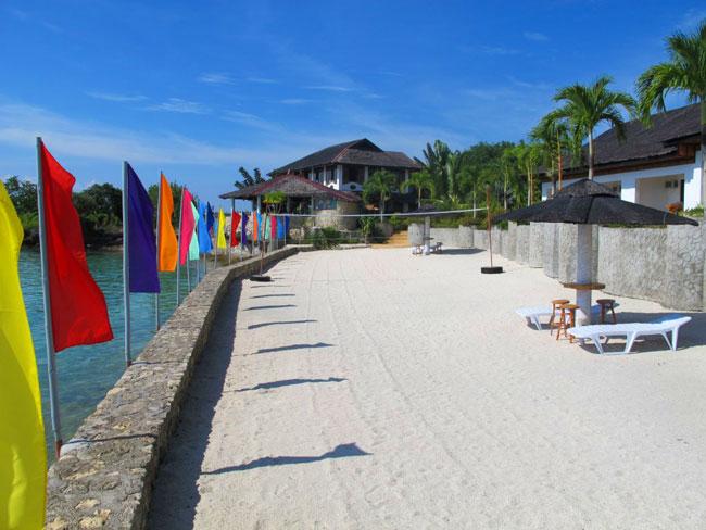 Kasai Village's beach volleyball court