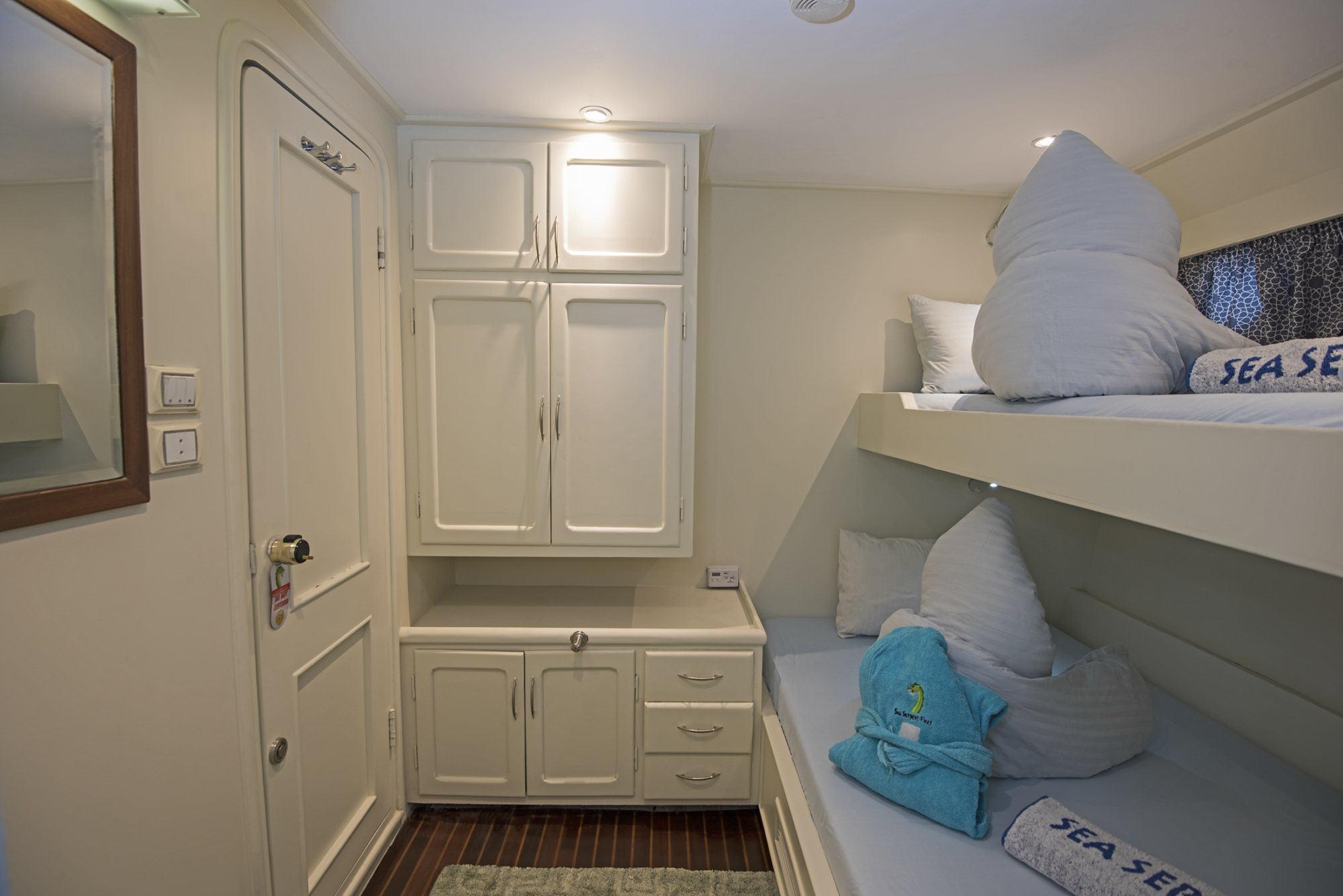M/Y Miss Nouran Bunk Bed Cabin