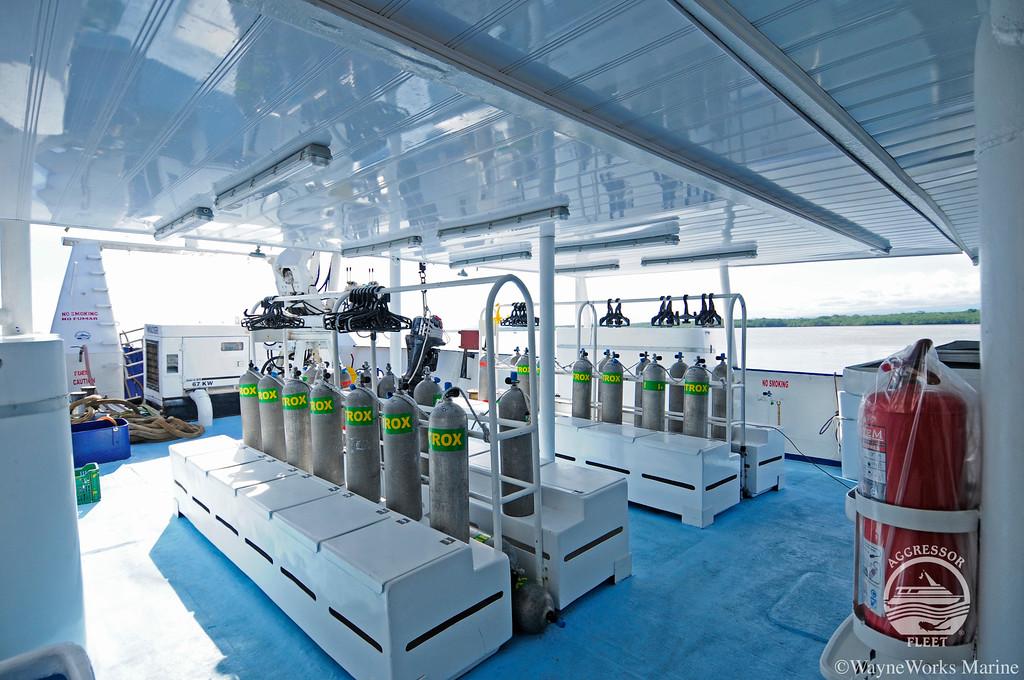 Okeanos Aggressor I dive deck