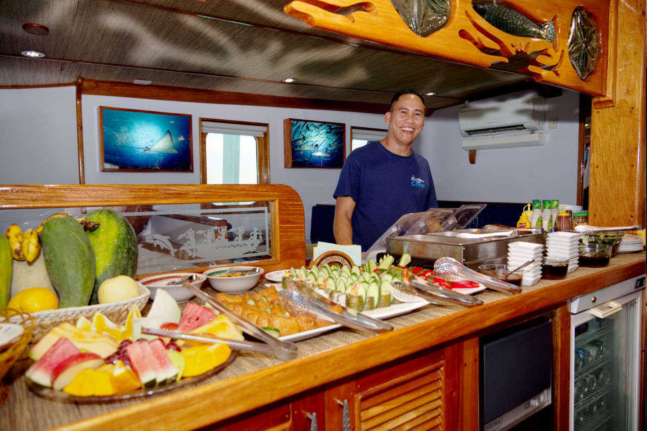 Food aboard Ocean Hunter III