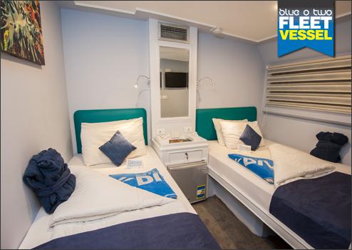 Blue Horizon's twin cabin