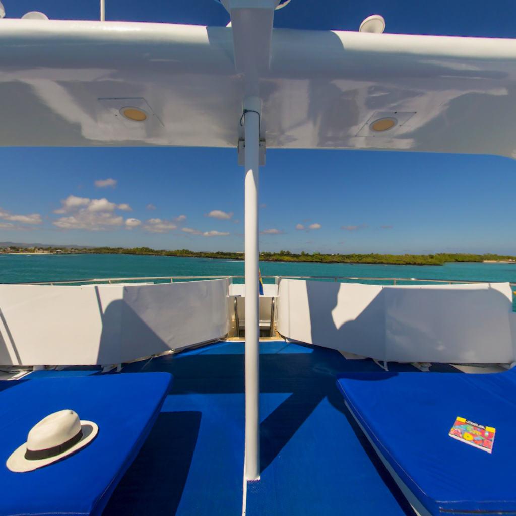 Blue Spirit Galapagos Liveaboard's sundeck