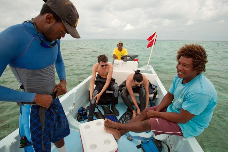 Coco Plum Island Resort's dive boat