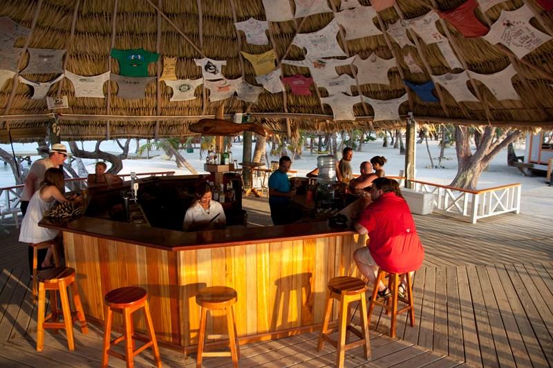 Coco Plum Island Resort's bar
