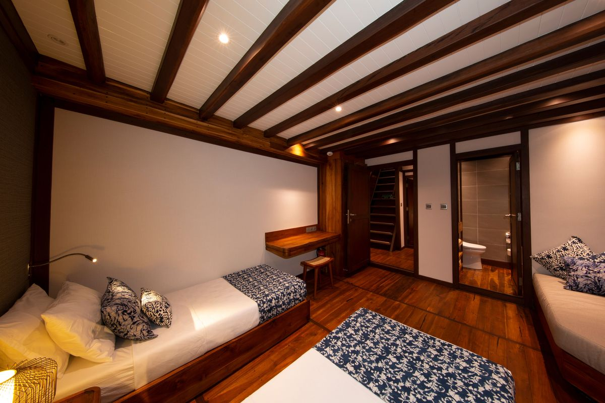 Coralia Liveaboard's twin cabin