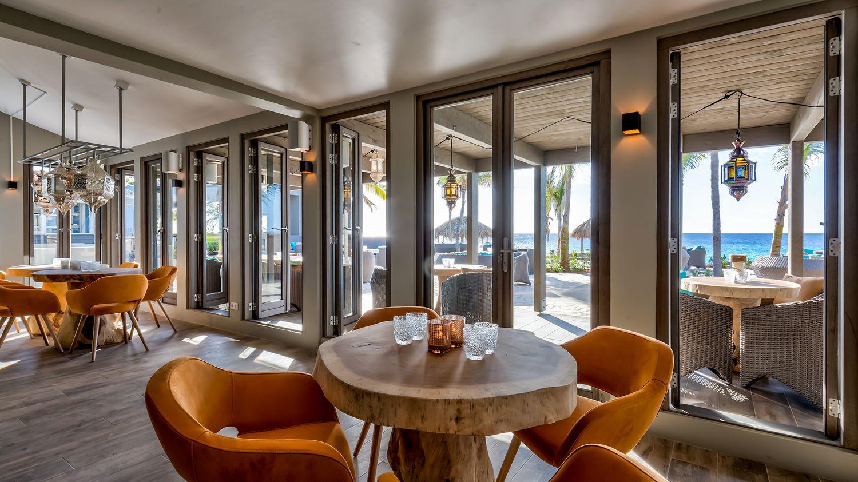 Delfins Beach Resort Bonaire's restaurant