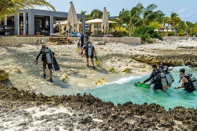Delfins Beach Resort Bonaire's divers