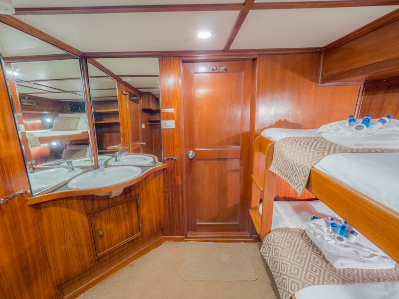 Mermaid II's budget cabin