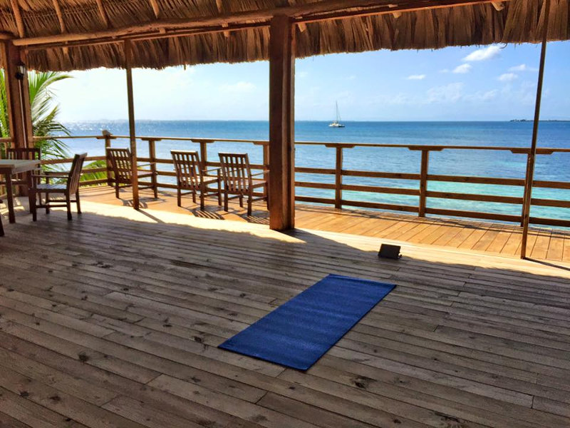 Pelican Beach Resort South Water Caye's Pelican's yoga deck