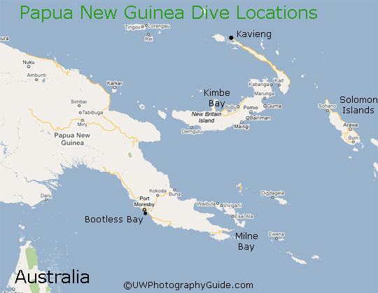 Diving in Papua New Guinea - Bluewater Dive Travel