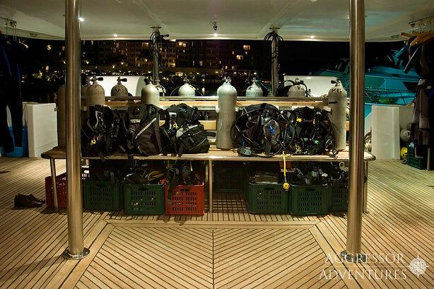 Socorro Aggressor's dive deck